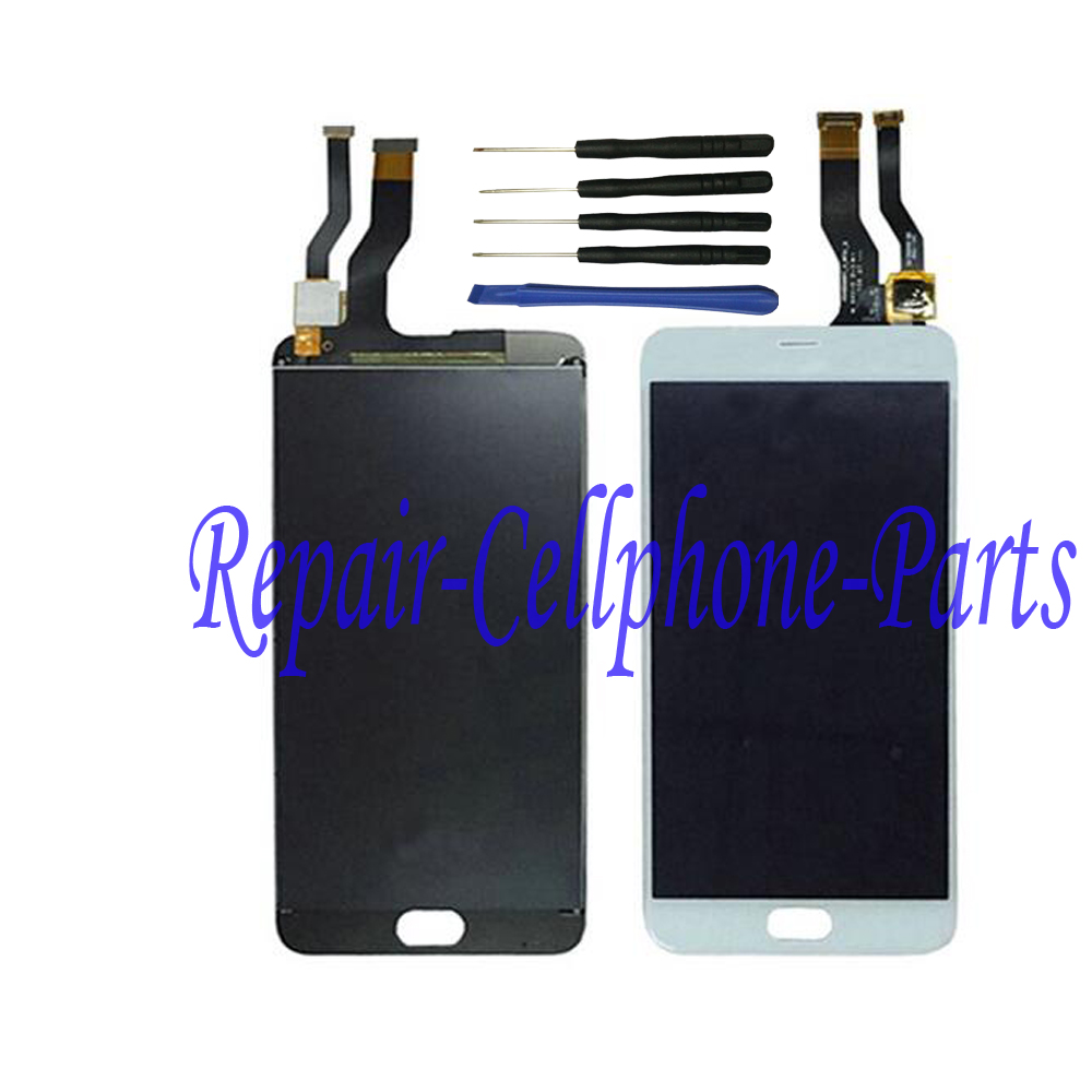 White Full LCD DIsplay + Touch Screen Digitizer Assembly Replacement For Meizu M1 Metal Free shipping + tools