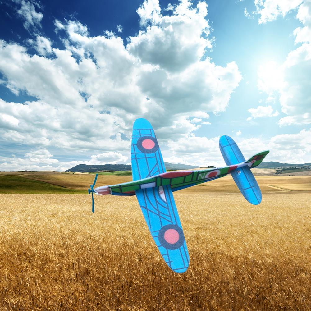 DIY Assembled Aircraft Model Hand-Made Material Foam Hand Throwing Aircraft Technology Small Invention Children Toy Random Color