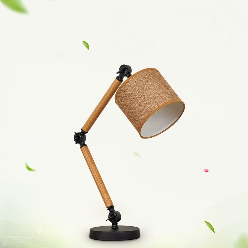 Американский белье деревянный новый Лофт исследования лампы творческой личности настольная лампа настольная оригинальный прикроватная т...