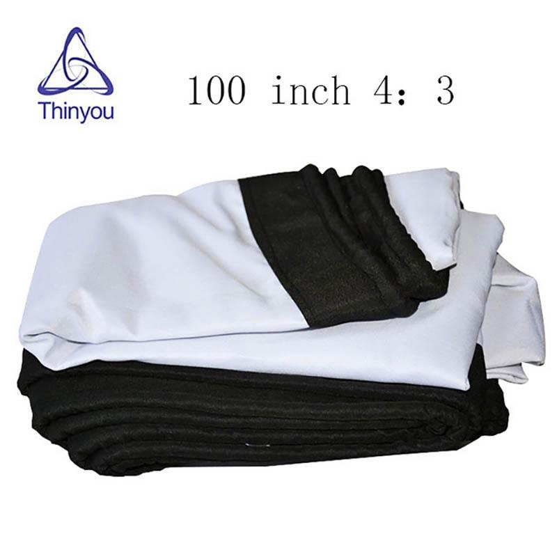 Thinyou projekcijsko platno 100inch 4: 3 tkanina bijela prijenosni - Kućni audio i video