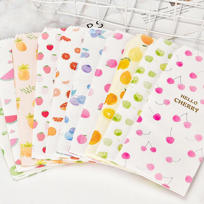 5pcs/lot Kawaii Fruit Envelopes Small Envelope Writing Paper Stationery Birthday Christmas Card Envelopes Stationery Gift