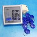 Envío de la alta Calidad + 10 rfid tag + Sistema de Control de Acceso RFID de Tarjetas de Proximidad RFID/EM Teclado de Tarjeta Abridor de Puerta de Control de acceso