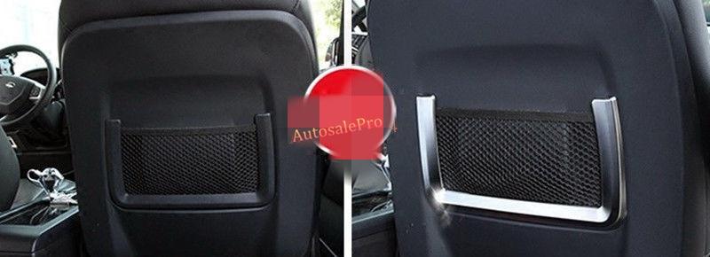 2Pcs ABS Matt Chrome Seat Rear Back Storage Net Frame Cover Trim For Land Rover Range Rover Evoque 2011 12 13 14 15 2016 2pcs abs exterior side mirror cover trim for land rover range rover evoque 2014 2016