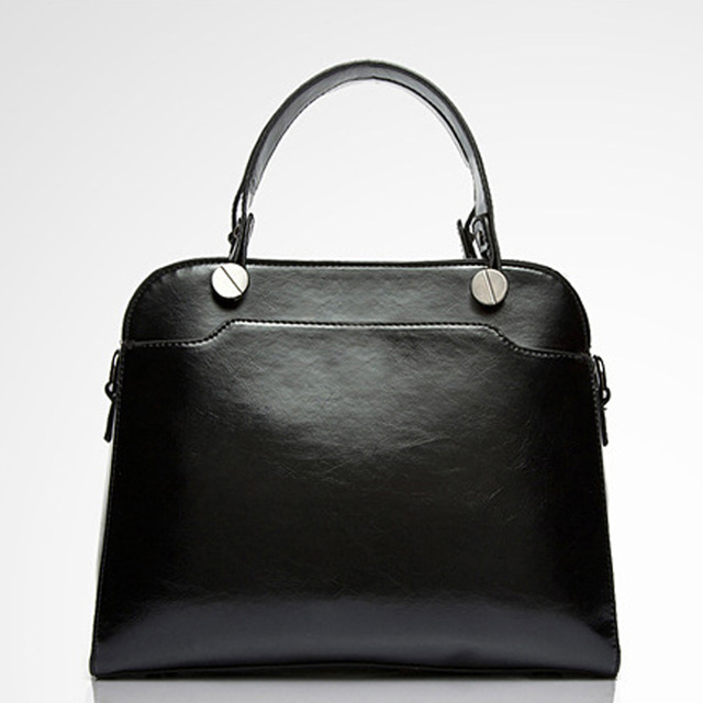 Lady's  High Quality Fashion Designer Handbags Women's Artificial Leather Handbags Branded Tote Bags Black Color Medium Size -C