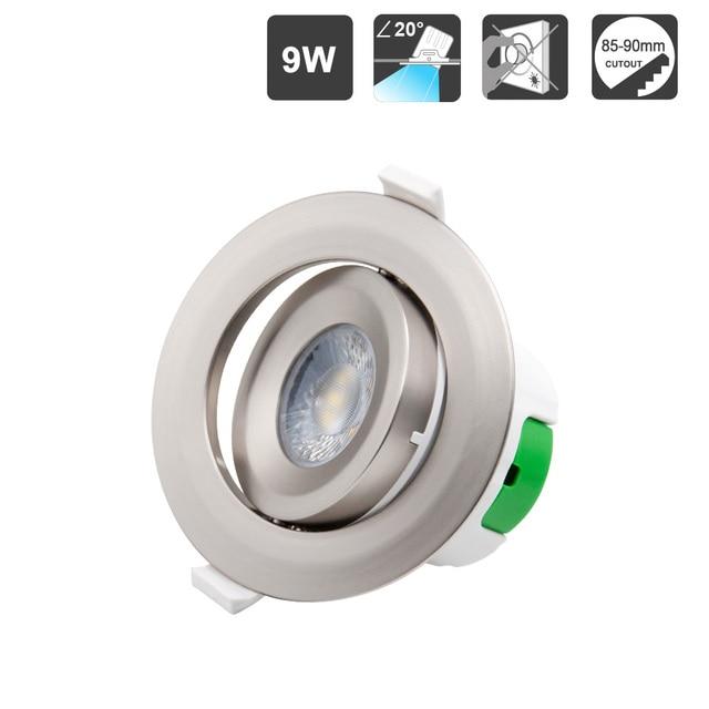 ENUOTEK Metal Color Plastic Angled LED Ceiling Recessed Spot Lamp Spotlight Downlight