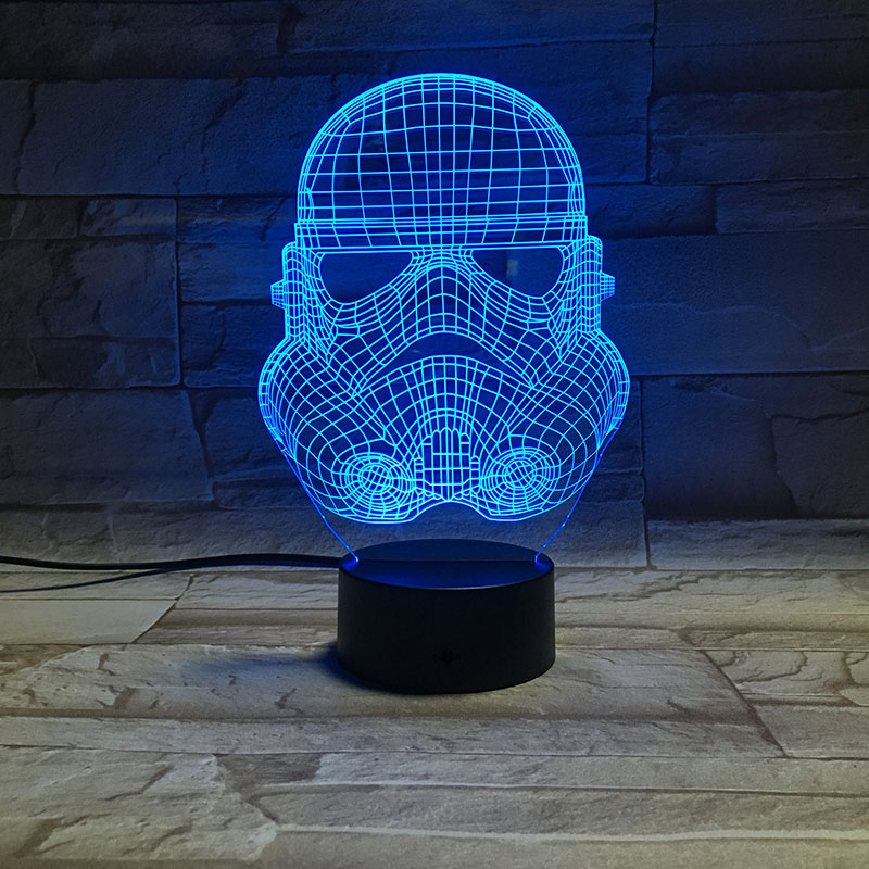 Novelty Lights Star Wars Stormtrooper 3d Led Night Light Lamp Office Decoration Nightlight for Kids Bedroom Usb 3d Lamp Gift in Novelty Lighting from Lights Lighting