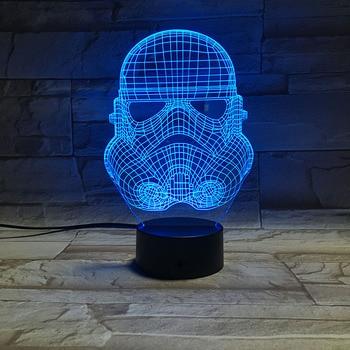 Novelty Lights Star Wars Stormtrooper 3d Led Night Light Lamp Office Decoration Nightlight for Kids Bedroom Usb 3d Lamp Gift