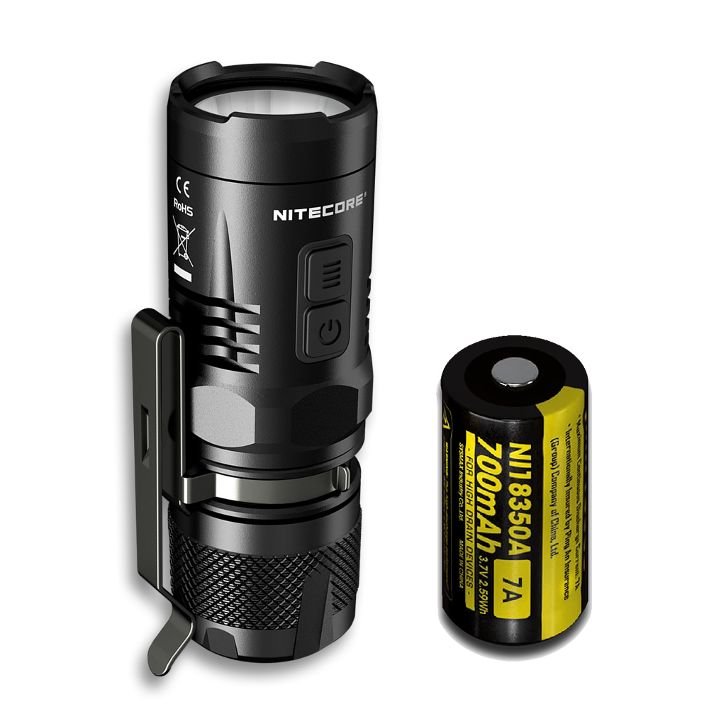 NITECORE Wholesale EC11 IMR 18350 Rechargeable Battery 900LM White Red LEDs Flashlight Waterproof Rescue Outdoor Search