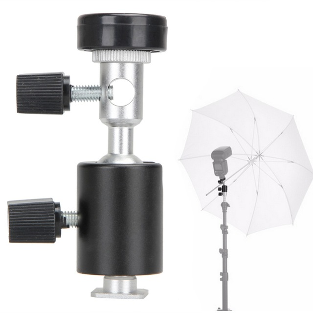 Hot Sale Type C <font><b>360</b></font> Degree Camera Flash Tripod <font><b>Shoe</b></font> Adapter Umbrella Holder Flashlight Stand Bracket Photo Studio Accessories image