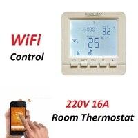 Mechanische 220 V 16A Elektrische Boden Heizung Temperatur Controller HY02B05 WiFi Raum Thermostat-in Elektrische Heizung Teile aus Haushaltsgeräte bei