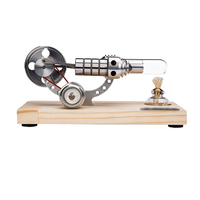 Bootable Stirling Engine Model Micro External Combustion Engine Model