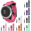 Soft Silicone Strap Replacement Smart Watch Band with Tools for Garmin Fenix 3