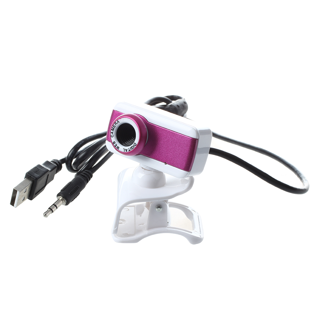 USB 2.0 HD Webcam Camera 1080P With miniphone for Computer Desktop PC Laptop Rose