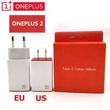 Фотография Original ONEPLUS 2 Charger ,EU US Wall Travel 5V=2A USB Charge Adapter & 100Cm Type-C Cable For One plus 2 3 Smartphone