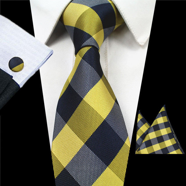 Men's Plaid Tie Set