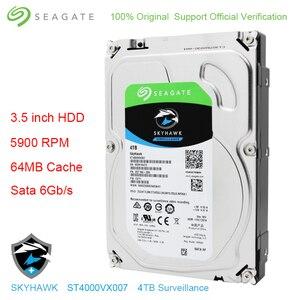 "Image 1 - オリジナルシーゲイト内蔵 4 テラバイト HDD スカイホークビデオ監視ハードディスクドライブのディスク 3.5 ""5900 rpm SATA 6 ギガバイト/秒 64 メガバイトキャッシュ ST4000VX007"