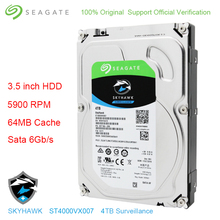 "Original Seagate Interne 4 tb HDD Skyhawk Video Überwachung Festplatte Festplatte 3,5 ""5900 rpm SATA 6 gb/s 64 mb Cache ST4000VX007"
