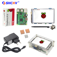 RS UK Raspberry Pi 3 3 5 Inch HDMI Touchscreen Display Acrylic Case 2 5A Power