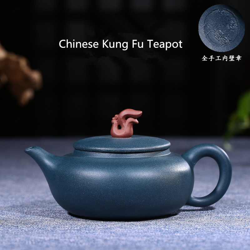 300ml Authentic Famous Yixing Zisha Tea Pot Handmade Sky Cyan Mud Teapot Chinese Kung Fu Puer Tea Black Tea Gift Free Shipping300ml Authentic Famous Yixing Zisha Tea Pot Handmade Sky Cyan Mud Teapot Chinese Kung Fu Puer Tea Black Tea Gift Free Shipping