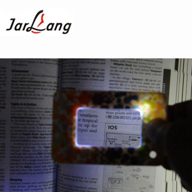 2012Novel LED lighting pocket magnifier or reading glasses best gift(size credit card)