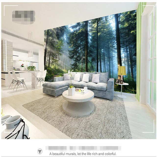 Online Shop Beibehang Custom Painting Living Room Natural Forest