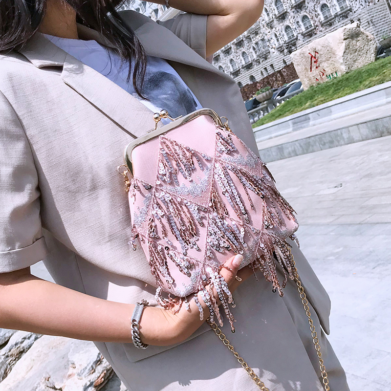 Summer small bag female 2018 new wave chain shoulder bag Korean wild Messenger bag simple fashion shell package 64