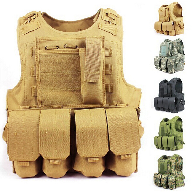 1000D Hunting Vest Tactical Assault Modular Military Molle Vest Amphibious Combat Paintball Camouflage Tactical Vest military usmc backpack hunting rifle molle bag assault molle bug out rucksack hunting army combat travel bag