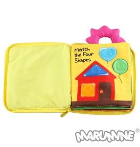 Image 3 - Marumine 3D bébé tissu livre Animal développement doux tissu silencieux livres pour 0 12 mois Kid Intelligence jouets livre de lecture