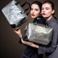 ZOOLER Натуральная кожа мешок посыльного женщин сумки сумки женщины известные бренды Крокодил pattern сумки на ремне дизайнер # CJ-6953