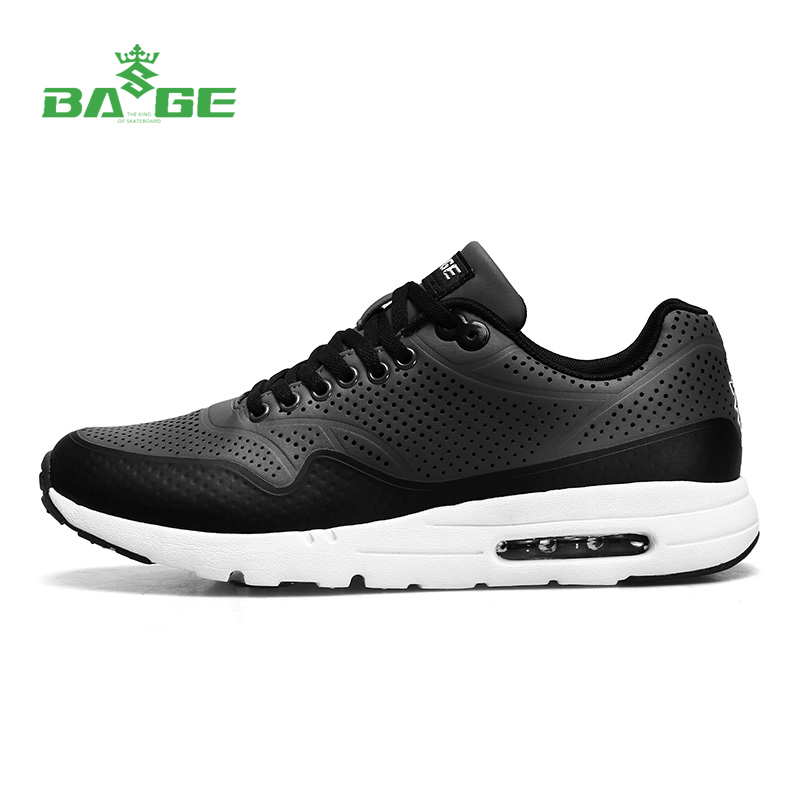 2017 Bage Light Weight Air Cushion Men Running Shoes Breathable Lace-Up Outdoor Sport Sneakers for Men Comfortable Fitness Shoes do dower men running shoes lace up sports shoes lovers yeezys air outdoor breathable 350 boost sport sneakers women hot sale