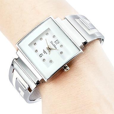 Women Wholesale Fashion Simple Square and Round Women's Quartz Bracelet Watch Wo