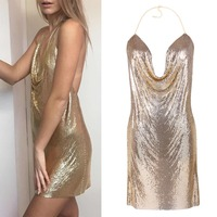 Fashion Sexy Sequins Body Chain For Women Bra Body Jewelry Silvr Gold Black Color Statement