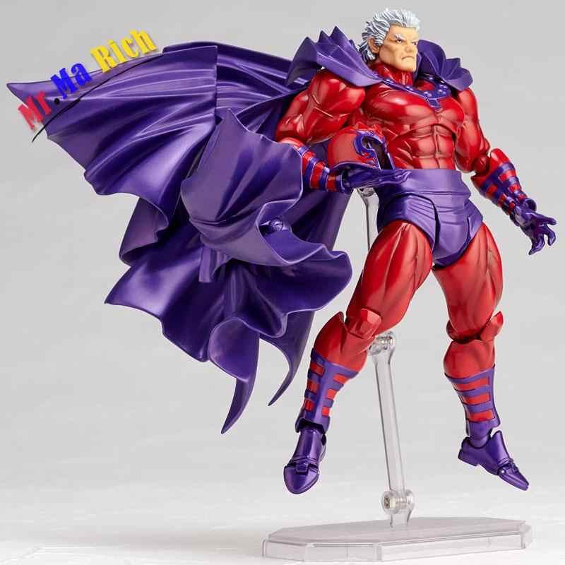 Figma Série No. 006 No. 006 Revoltech Magneto Magneto Figura Pvc Figuras de Ação E Coleção Modelo Toy Boneca Presente