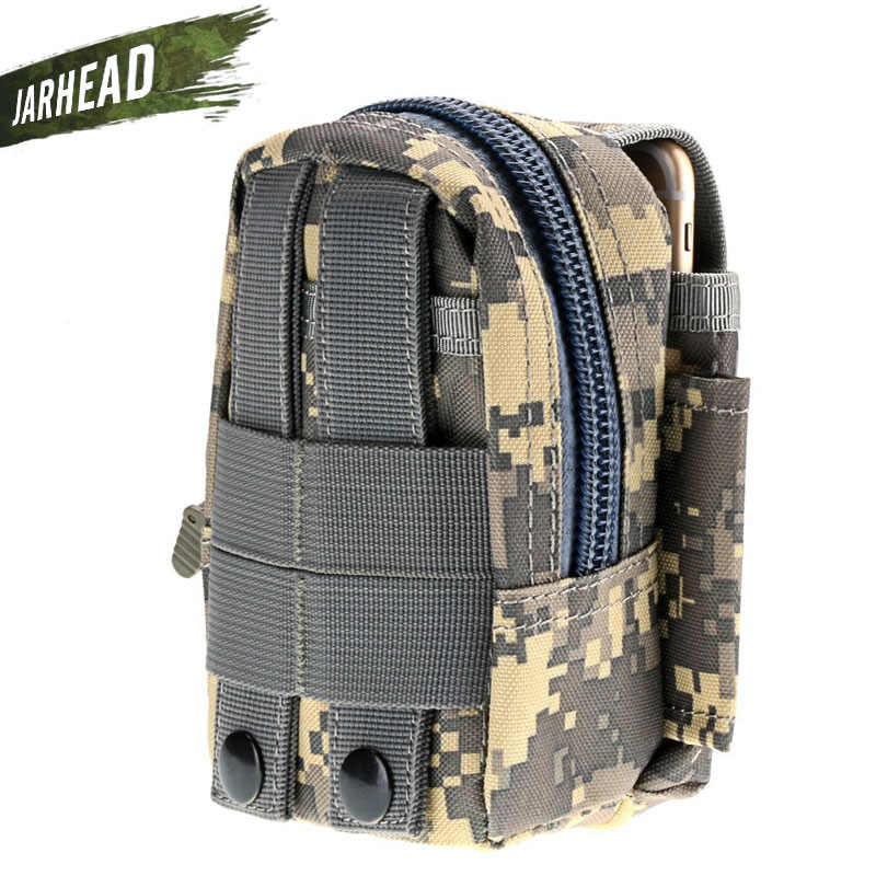軍事戦術カモベルト狩猟ポーチバッグパック電話バッグ男性のモールポーチベルトキャンプポケットウエストファニーバッグ