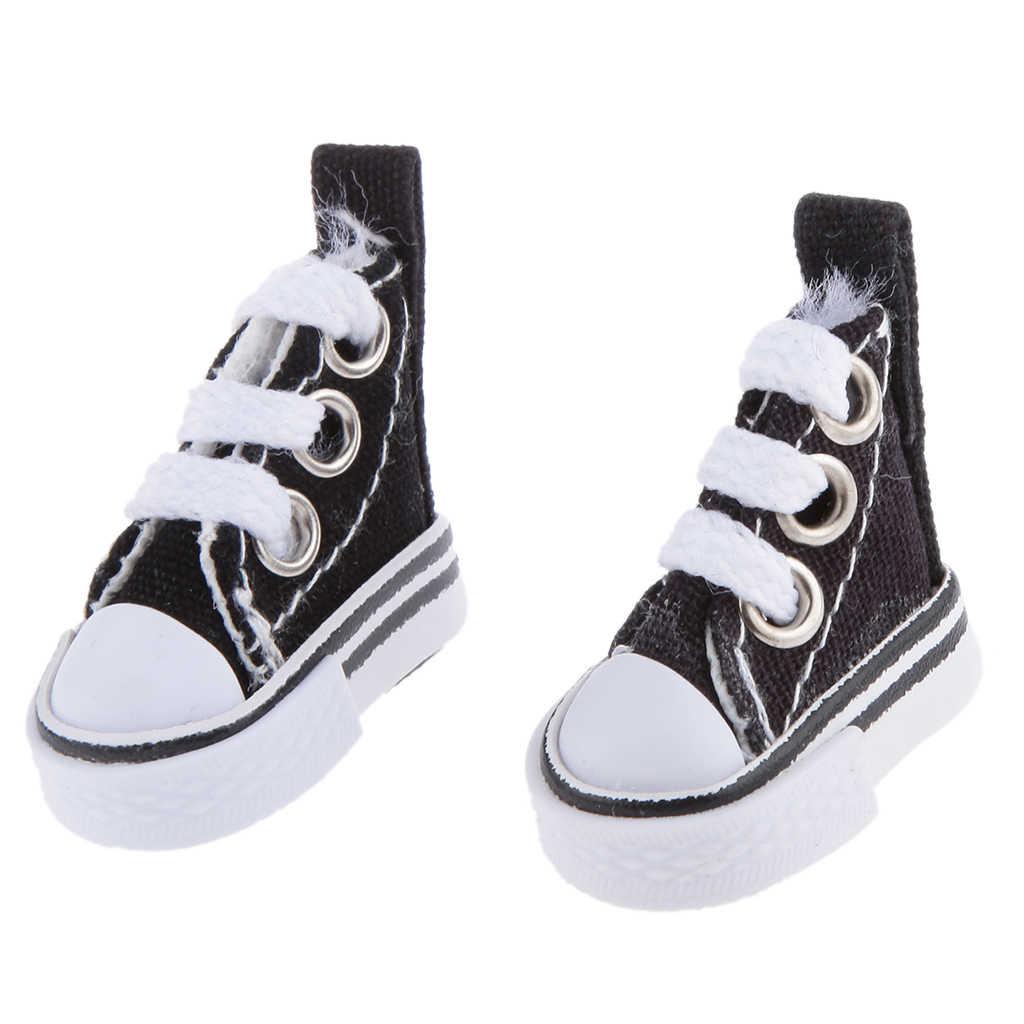 New1/6 Schaal Poppen Paar Canvas Schoenen Voor Pulip Momoko Poppen Accessoires Mode Schoeisel Gym Schoenen Doek Poppen Mini speelgoed Gift