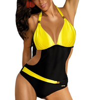 Sport Swimsuit One Piece Plus Size Swimwear Sexy Women Swimming Suit Halter Swimsuit Fused One Piece