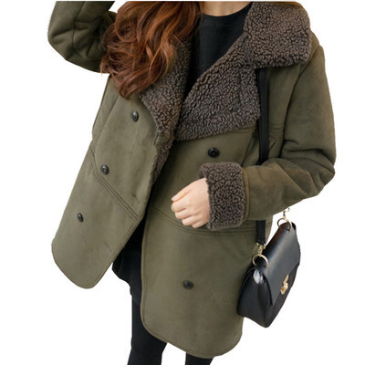 2016 Extra fat plus size ladies fall aon Korean version of the fat sister thicnd winter clothes fat mm cottk coat LL009