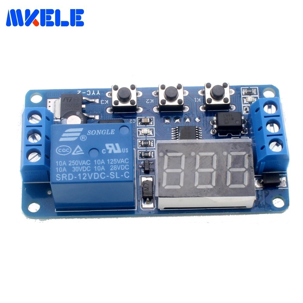 New Timer Relay Dc 12v Led Display Digital Delay Control Switch Turnoff Circuit Controlcircuit Module Plc Automation Timing