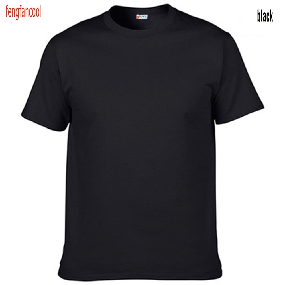 Fengfancool Marke 100% Baumwolle Männer leer T-Shirt, hochwertige - Herrenbekleidung - Foto 4