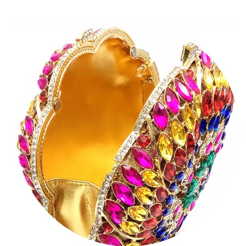 2018 Arrivée silver Embrayages Plein Sac Marque Sacs Haute Circulaire Xiyuan La Cristal Main D'embrayage Mode Colorful gold Soirée fin De Nouvelle À Femmes rrn7Wx5