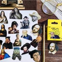 45 Pcs/box Retro Famous People Vintage Stickers Decoration DIY Scrapbooking Sticker Stationery Kawaii Diary Label Paper