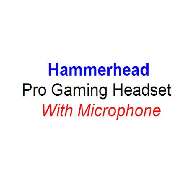 Бесплатная Доставка!! Hammerhead Pro Gaming Headset Наушники-вкладыши Наушники с Микрофоном Игры наушники С Шумоподавлением наушники Уха бутон