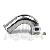Tri Clamp 1 5 38mm OD50 5 135 Degree Bend Pipe With Nipple For Thermo Sensor