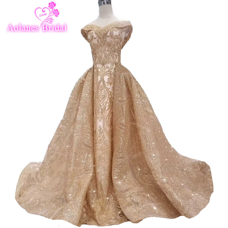 Glitter Gold Sequin aline Prom Dresses With Detachable Prom Evening Formal  Gown Party Dresses(Blings 5aeda3bf61f4