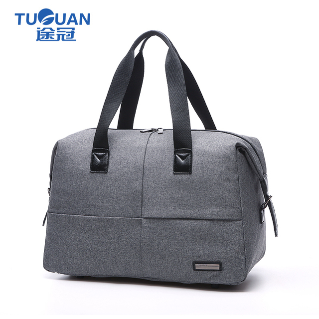 79b05b4f8699 TUGUAN Men Travel Bag portable Business Duffel Bag Travelling tote luggage  bag 19 inch gray Bolsas