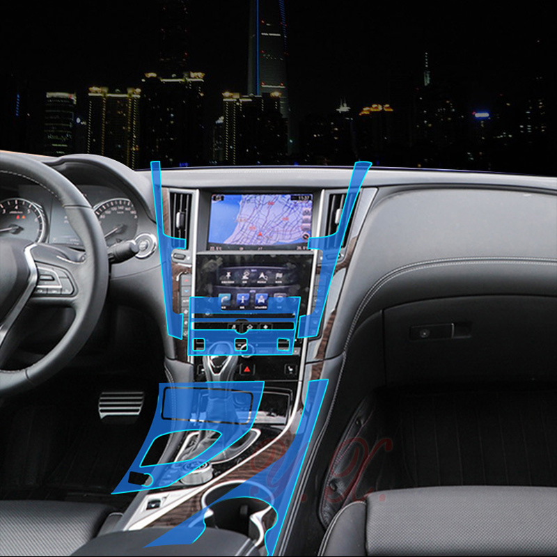 Autocollants de voiture Pour Infiniti transparent TPU De Protection Film couvre autocollant pour Infiniti Q50 Q50L Intérieur accessoires