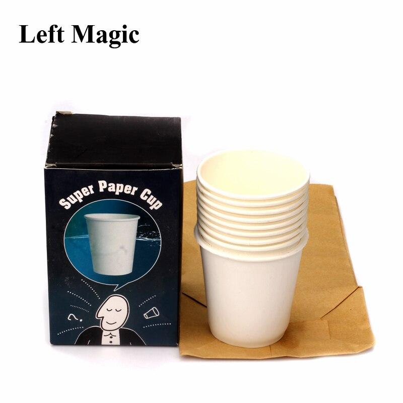 Super papier tasse tours de magie tasse apparaissent de sac accessoires de magie papier comédie scène fermer magie rue spectacle de magie