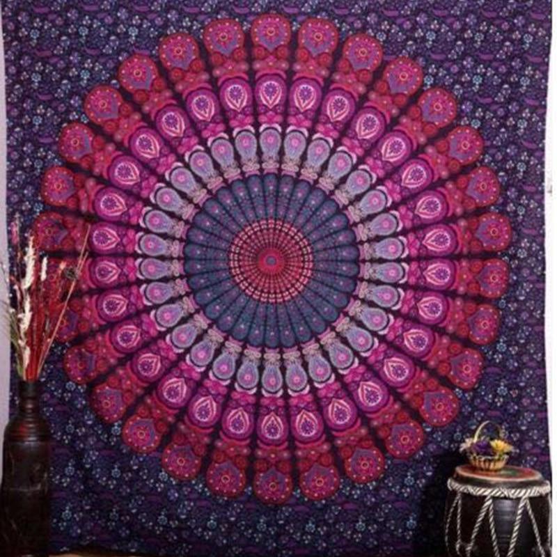 Indian Mandala Printed Tapestry Wall Hanging Hippie