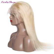 Straight 613 Blonde full lace human hair wigs Remy Hair Peruvian Wig Baby Hair Pre Plucked Hairline 150 Density Hot sale(China)