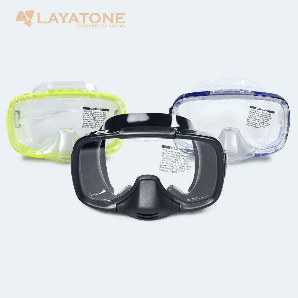 LayaTone Diving Mask Spearfishing Scuba Diving Glasses Full Face Wide One Vision Diving Mask Snorkeling Swimming Dive Mask Adult